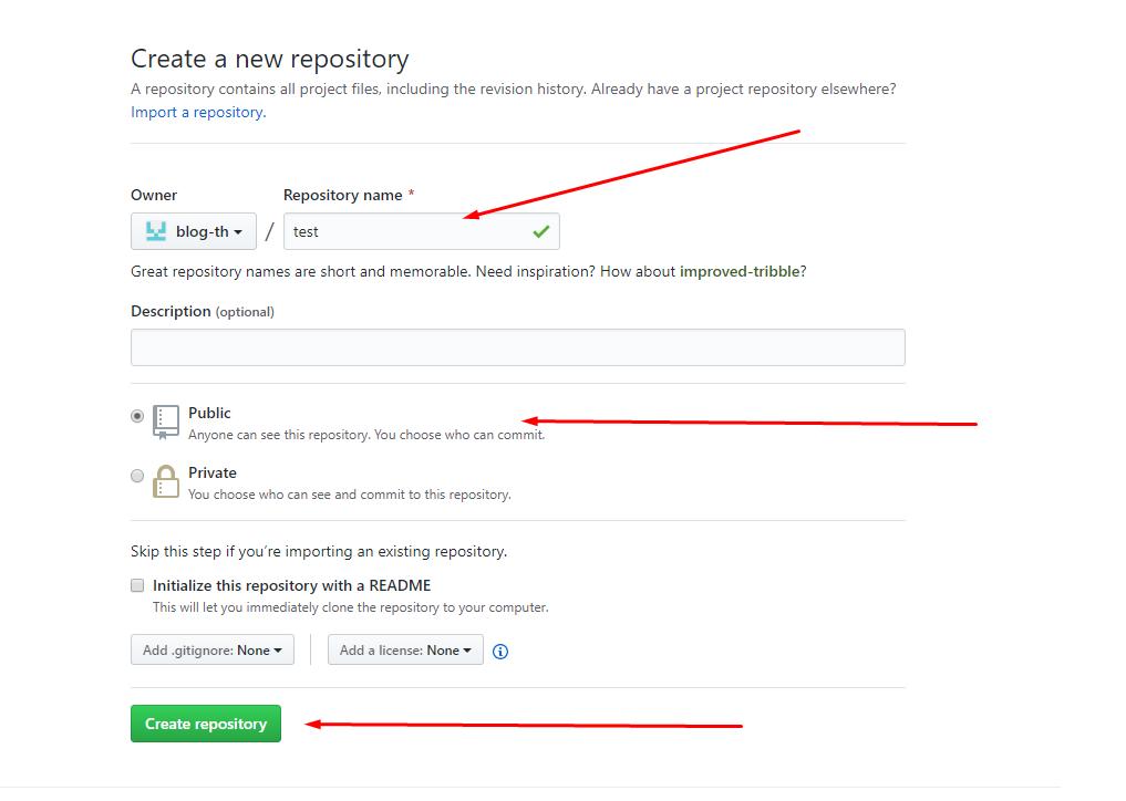 Create new repository